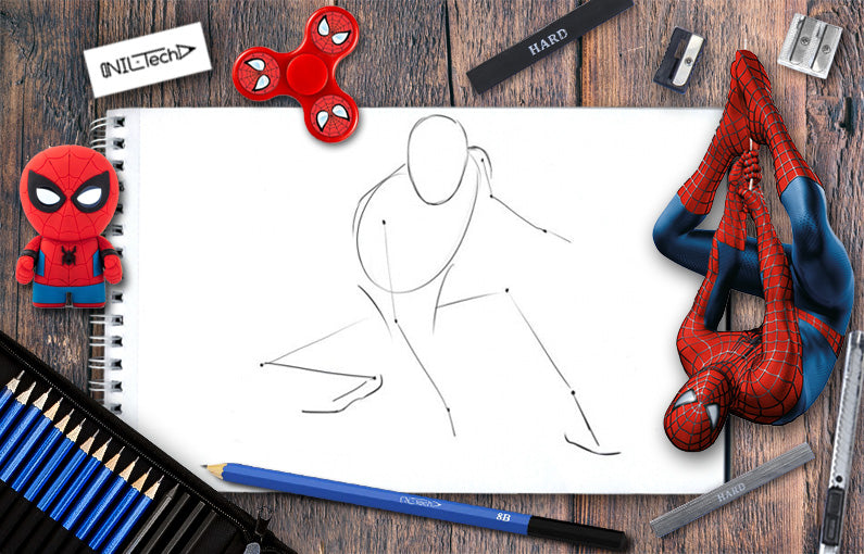 spiderman drawings