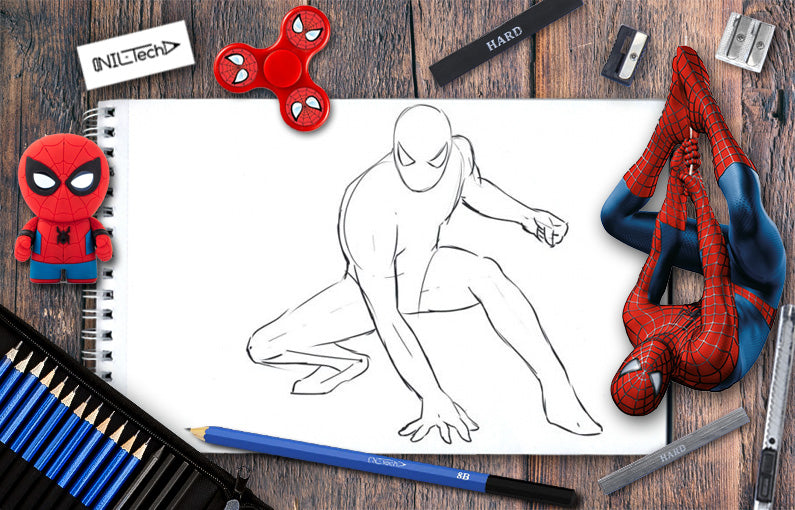 spiderman drawing easy