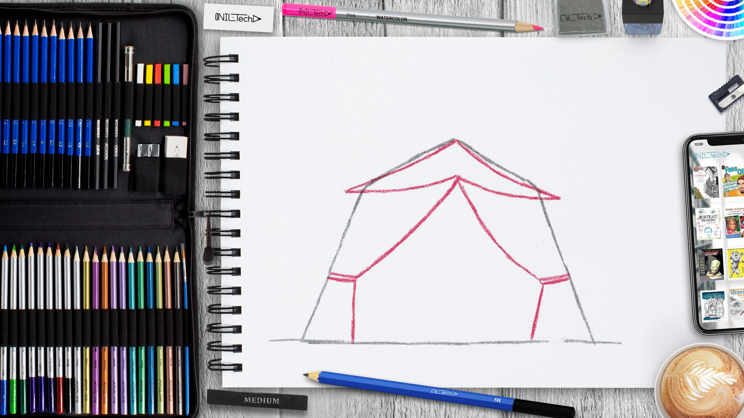 easy sukkot tent step by step drawing tutorial