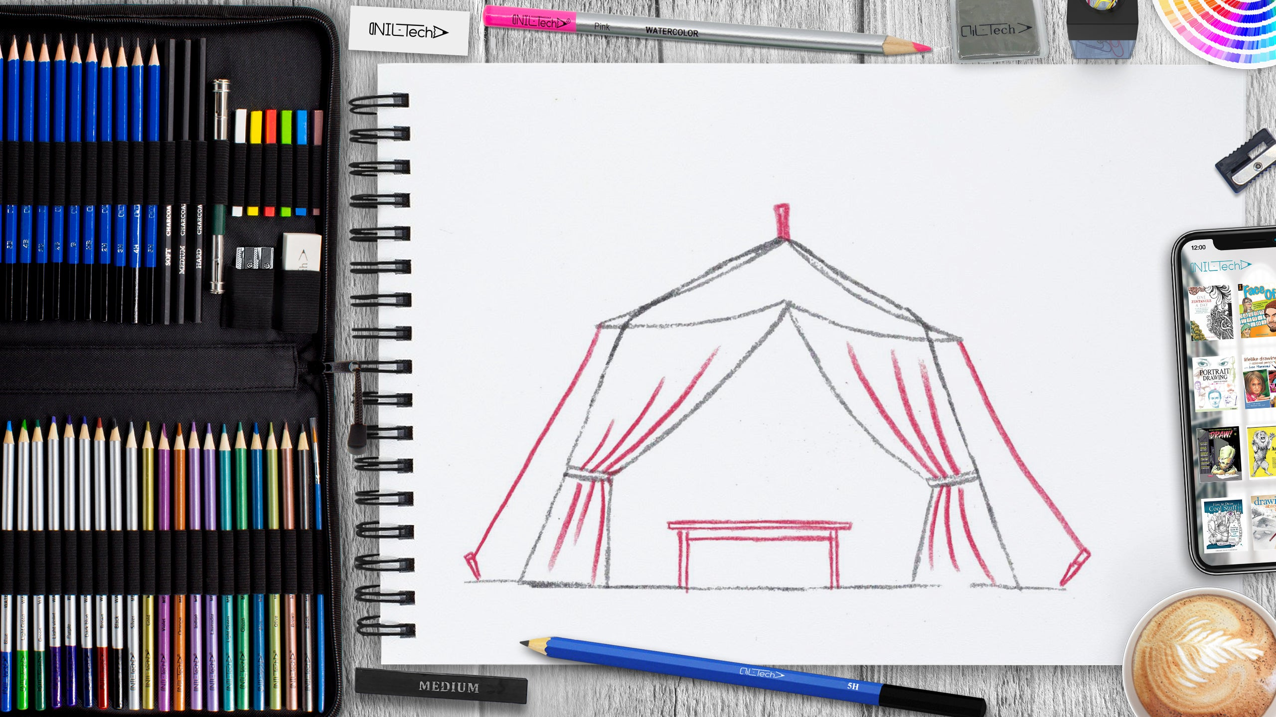 easy sukkot tent pencil drawing tutorial