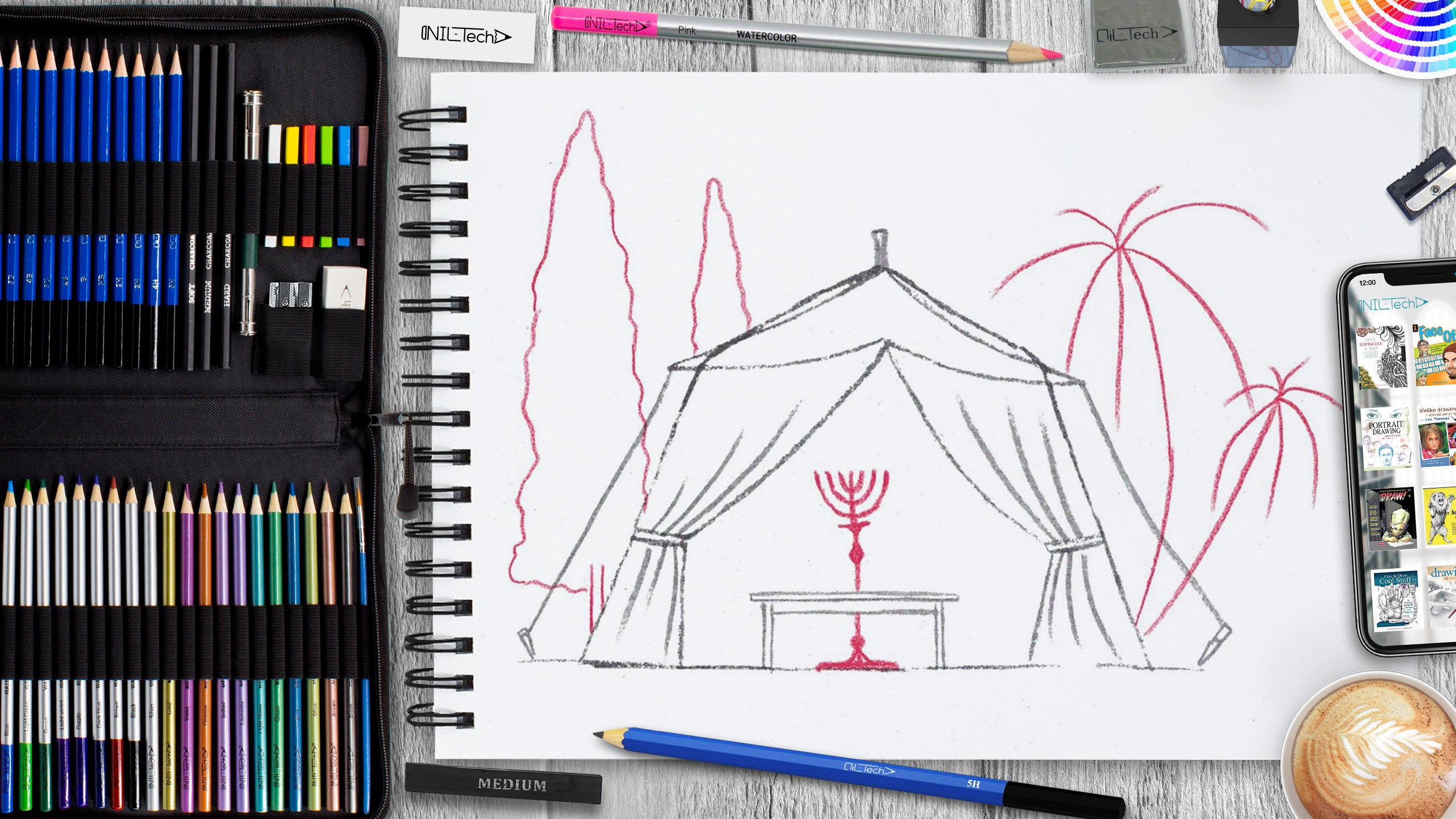 how to draw sukkot tent for the festival of shelters step by step