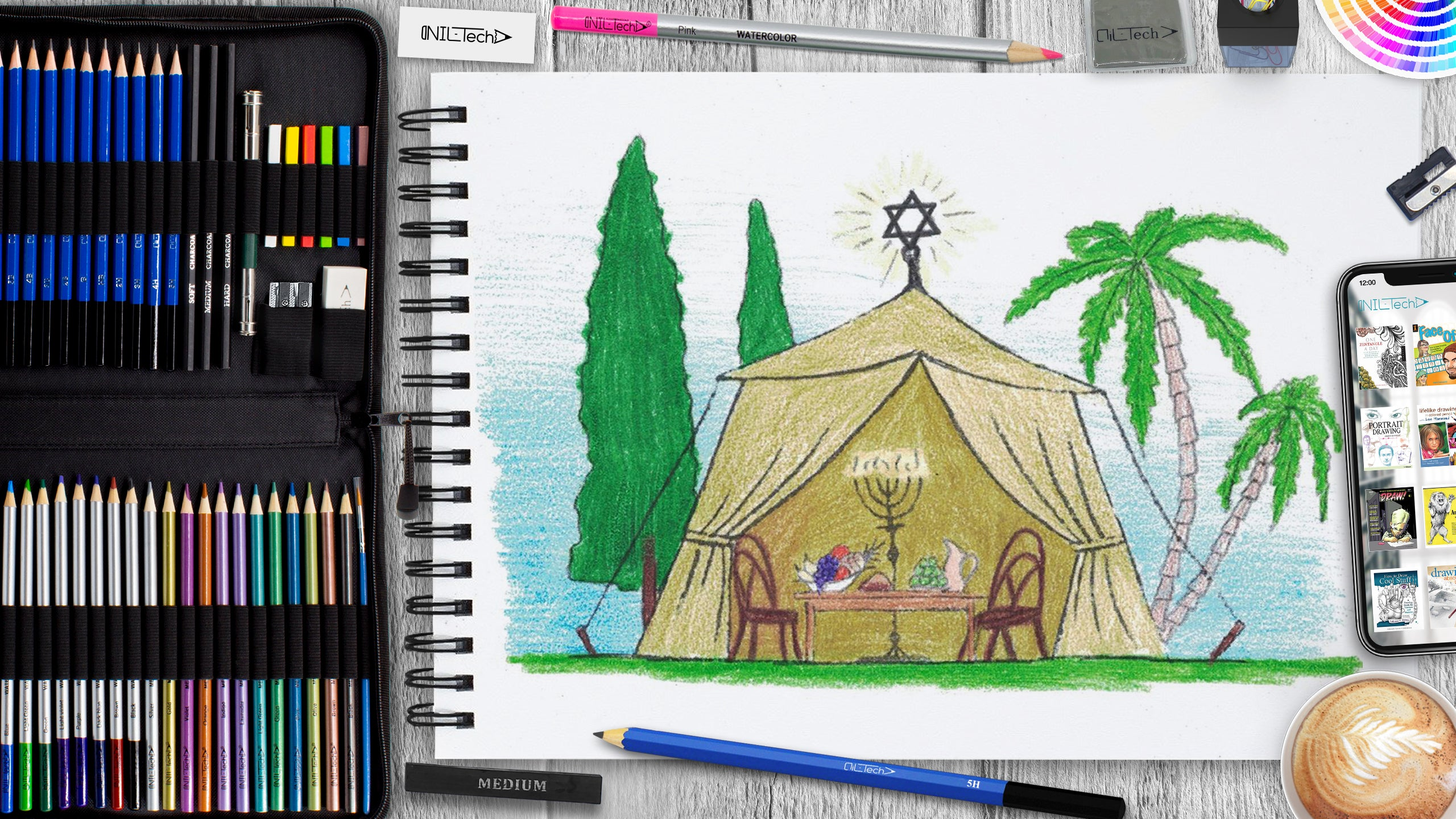 easy sukkot pencil drawing tutorial