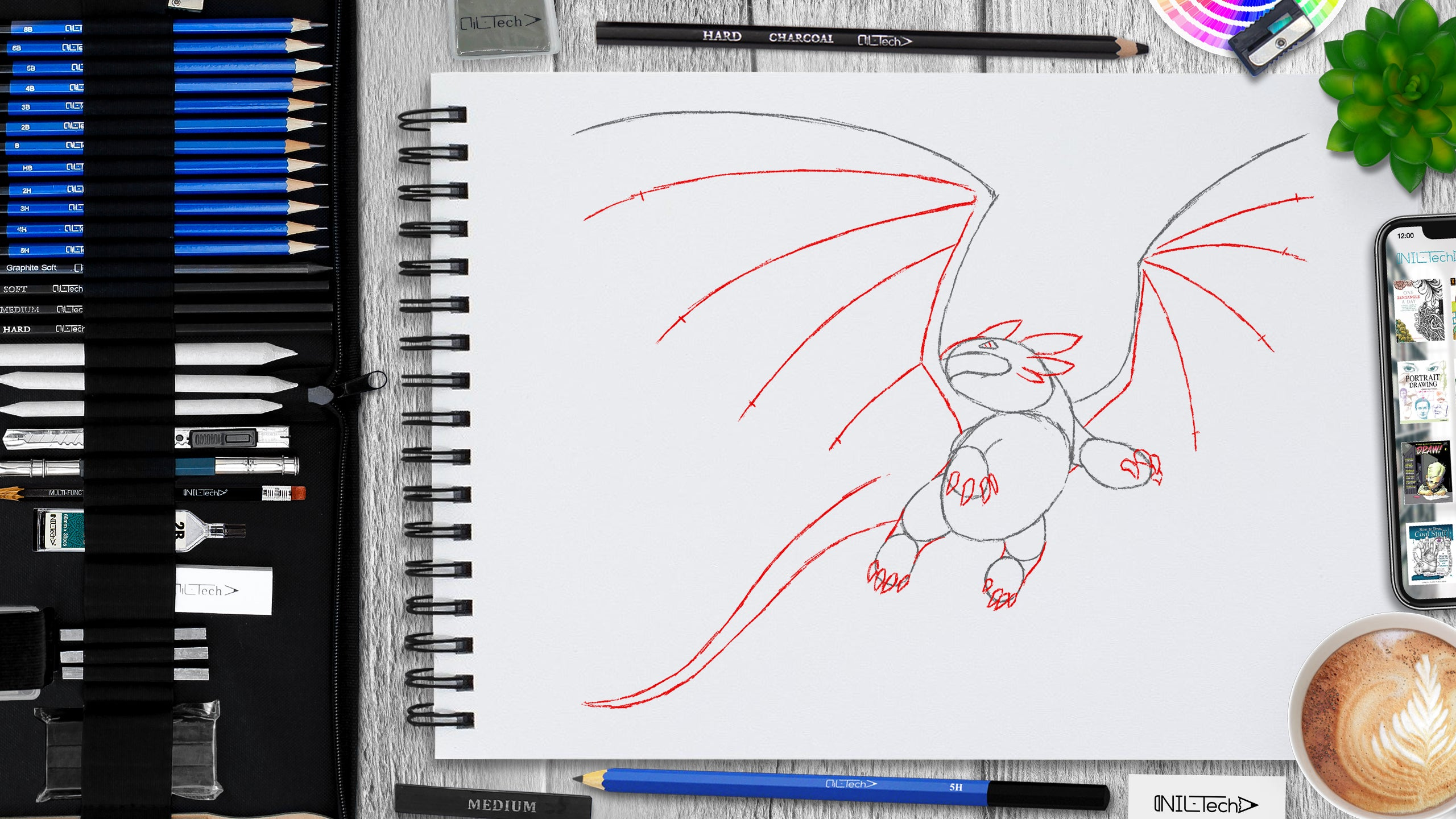 learn how to draw dragon step by step