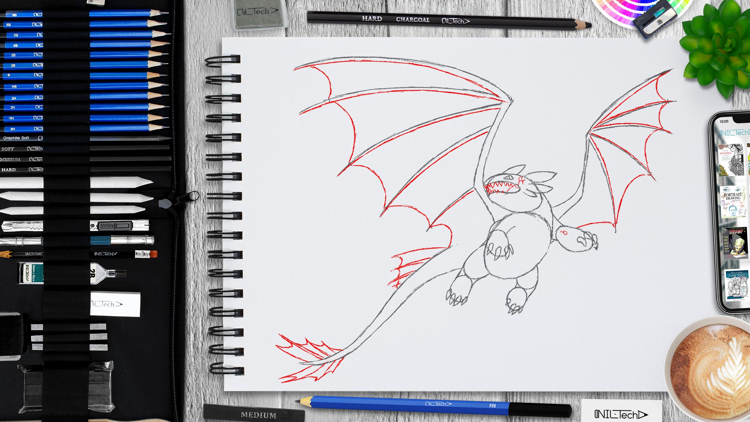 simple toothless drawing step by step