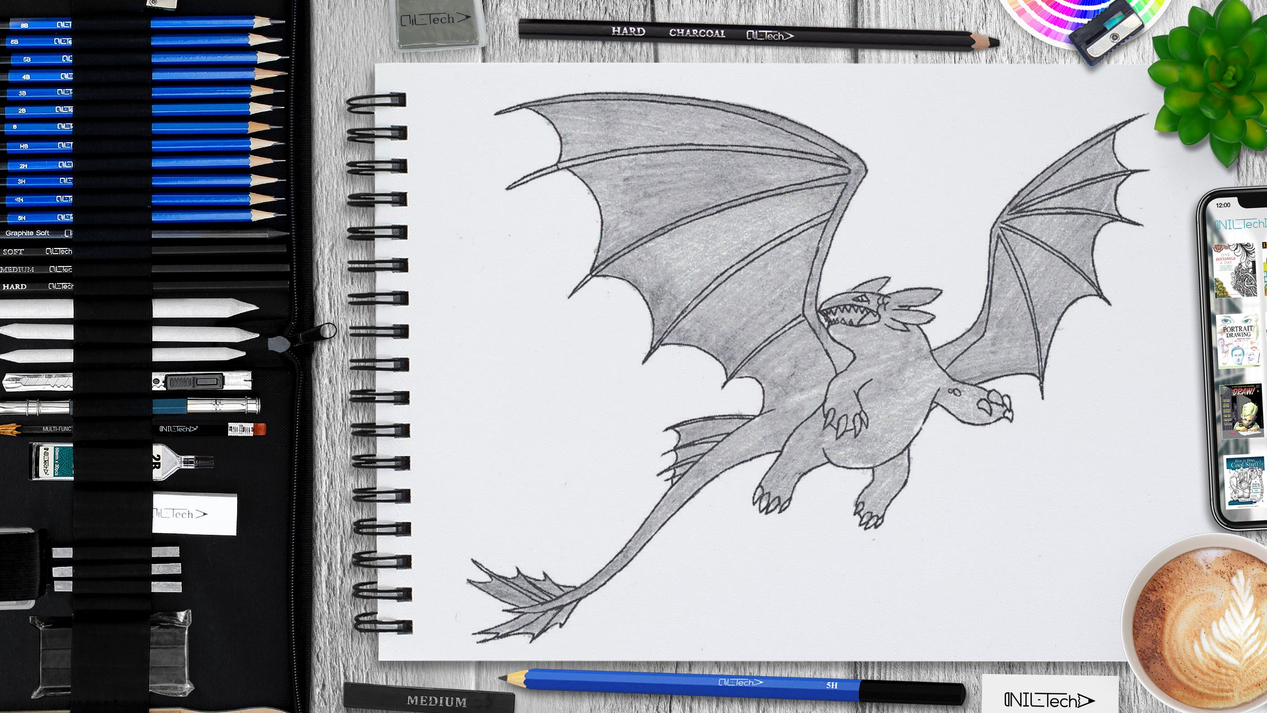 simple toothless from how to train your dragon drawing tutorial