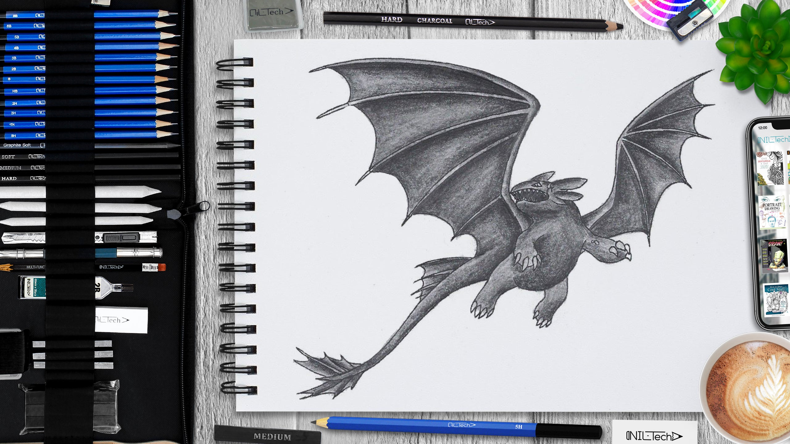 learn to draw toothless step by step