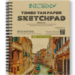 Toned Tan Paper 9x12 inches Sketch Pad - 70 Pages