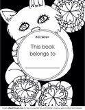 Adult Coloring book with stress relieving cat patterns