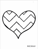 Adult Coloring book with stress relieving Heart patterns