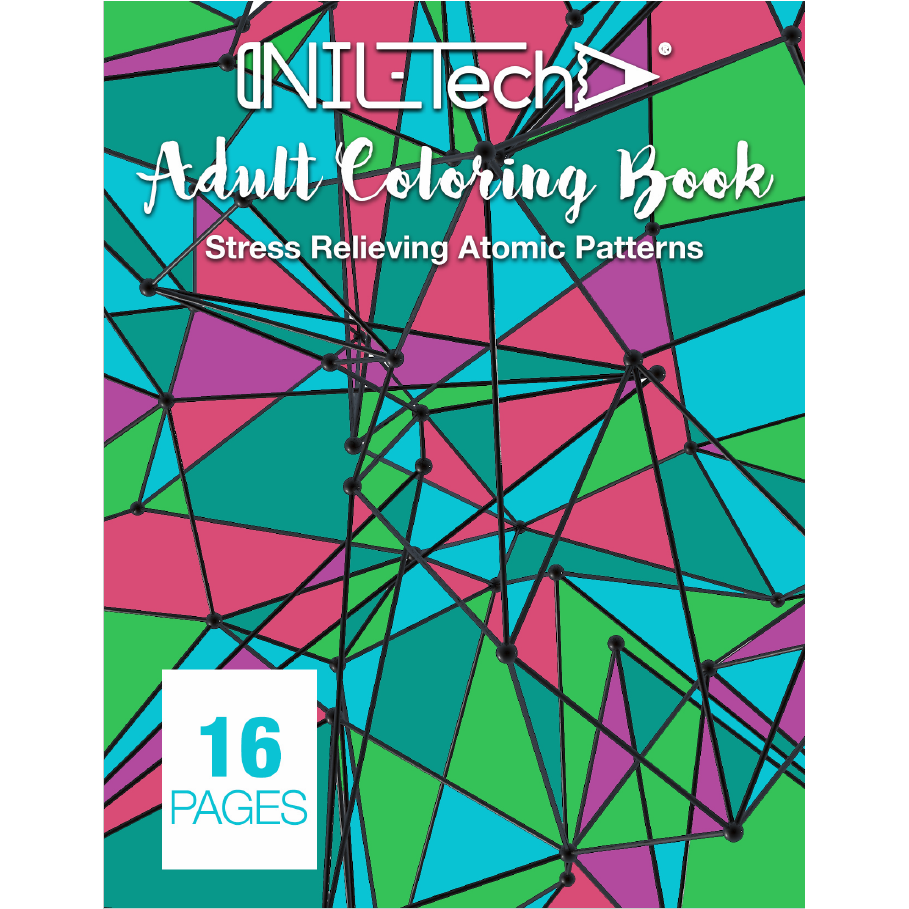 Adult Coloring book with stress relieving Atomic patterns