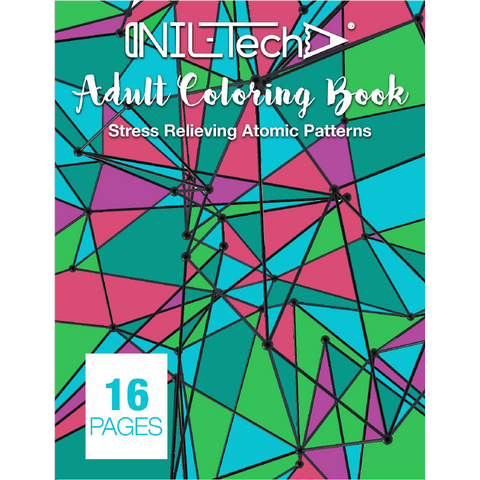 Adult Coloring book with stress relieving Atomic patters