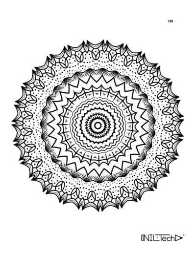 Adult Coloring book with stress relieving mandala patterns