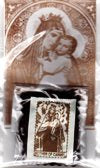 BROWN SCAPULAR WITH LEAFLET