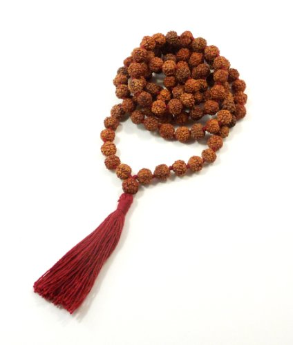 Rudraksha Meditation Mala - 8mm - 108 Beads - Top Quality