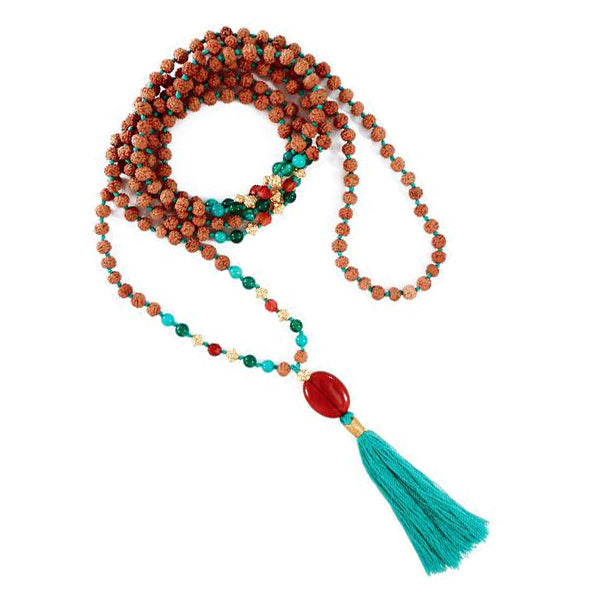 Kailash Carnelian & Gold Mala - 4mm - 216 Beads - Top Quality