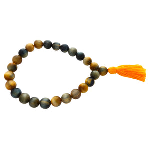 Healing Crystal Stretch Mala Bracelets with Tassel