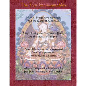 Four Immeasurables Dharma Altar Card