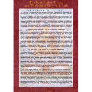 Four Noble Truths Dharma Altar Card