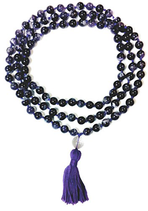 Amethyst Hand Knotted Mala - 108 Beads