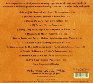 Yoga Lounge CD back cover