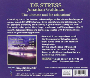 De-Stress CD back cover