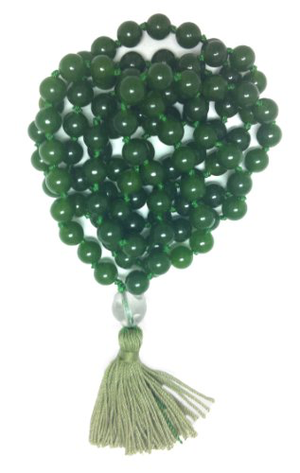 Green Aventurine Hand Knotted Mala - 108 Beads