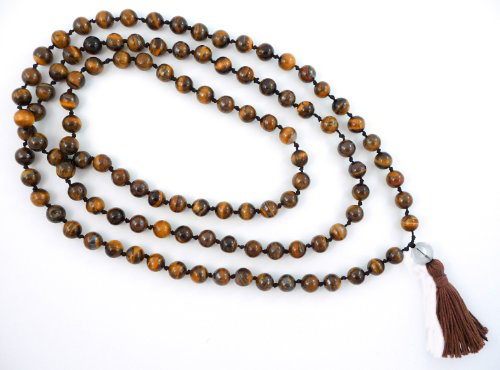 Tiger's Eye Hand Knotted Mala - 108 Beads