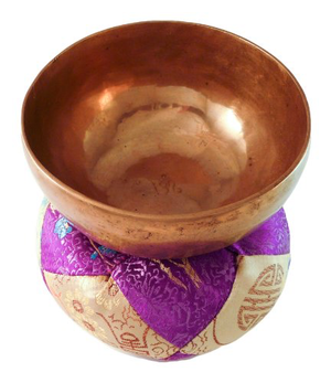 Hand Engraved Tibetan Singing Bowl Hand Hammered with Pad & Striker