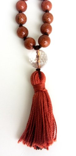 Goldstone Hand Knotted Mala - 108 Beads