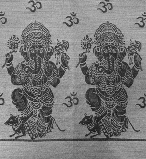 Ganesh Meditation Prayer Shawl & Yoga Wrap