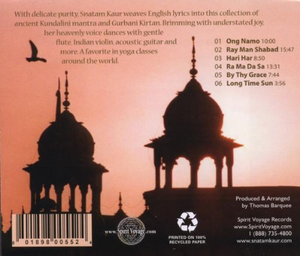 Grace CD Back cover