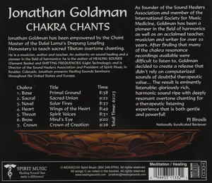 Chakra Chants CD back cover