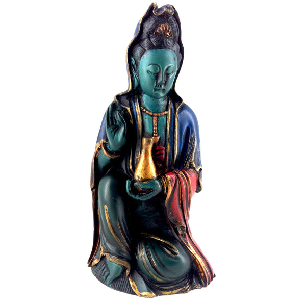 Kuan  Yin Goddess of Mercy Meditating Statue for Compassion & Vegetarianism