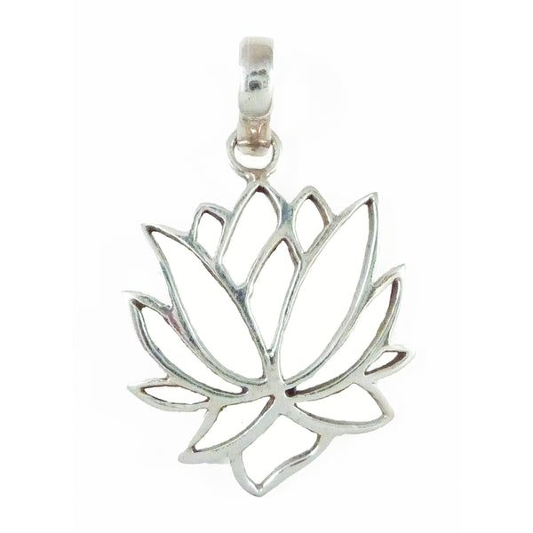 Lotus Flower Pendant - Sterling Silver