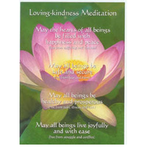 Loving-Kindness Meditation Altar Card