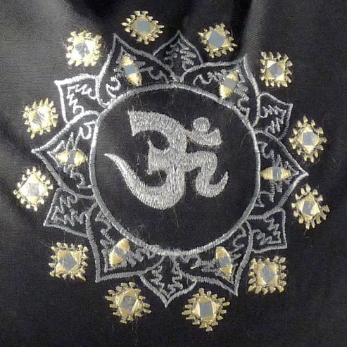 Om Embroidered Shoulder Yoga Bag