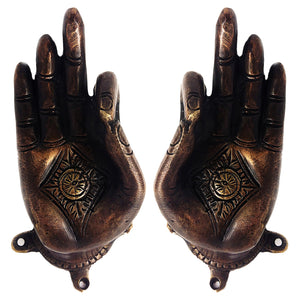 Yoga Mudra Bronze Door Handle