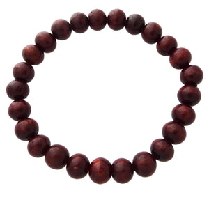 Natural Wood Stretch Mala Bracelets