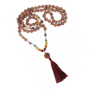 Chakra, Rudraksha Guru Bead, Mala - 7mm - 108 Beads - Top Quality