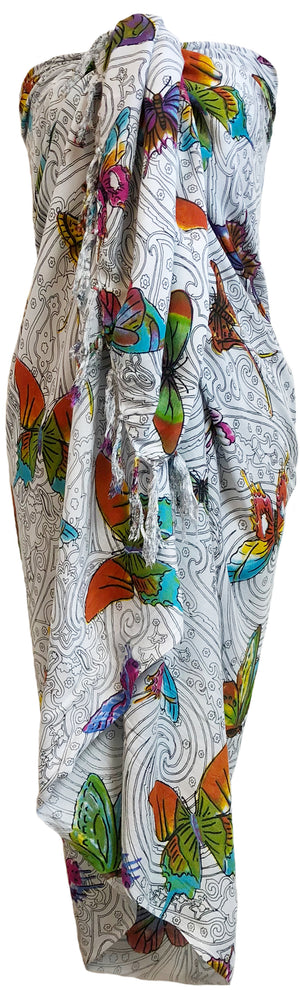 Sarong Wrap From Bali - Winged Creatures Designs