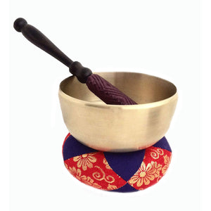 Japanese Zen Seven Metal Bowls with Striker and Pad