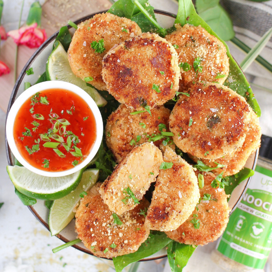 Cheesy Thai Curry Potato Patties