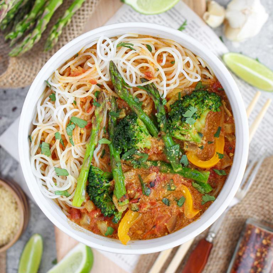 Coconut Curry with Rice Noodles