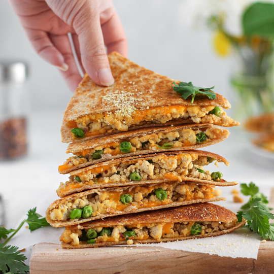 Tofu Scramble Quesadillas