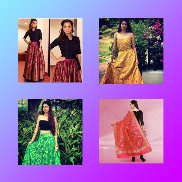 Turn your mother's old sarees into your new style statement