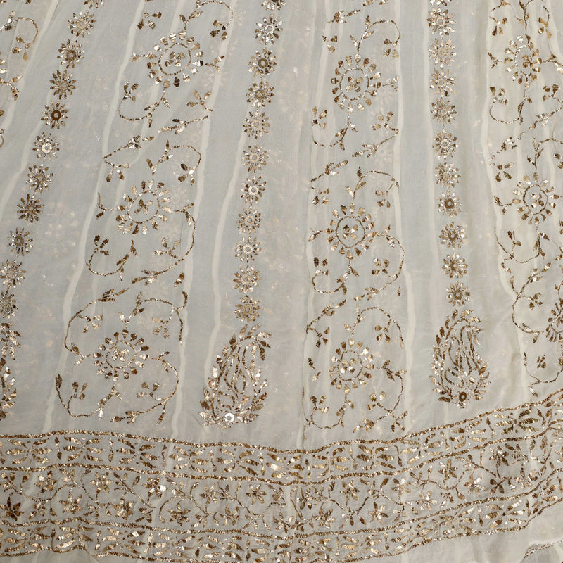 Hand Embroidered Chikankari Pure Georgette Anarkali Set - Khinkhwab