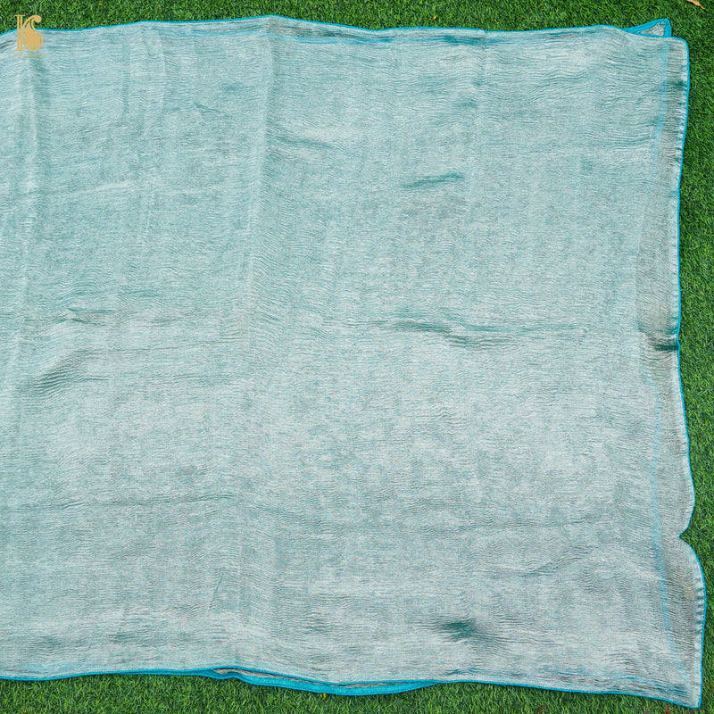 Pure Banarasi Silk Handwoven Orange Tanchui Fabric - Khinkhwab