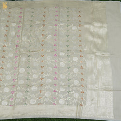 Handloom Banarasi Pure Tussar Silk Brown Saree - Khinkhwab
