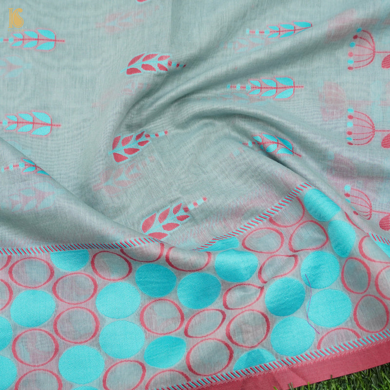 Handloom Banarasi Cotton by Tissue Stripes Multi Saree - Khinkhwab