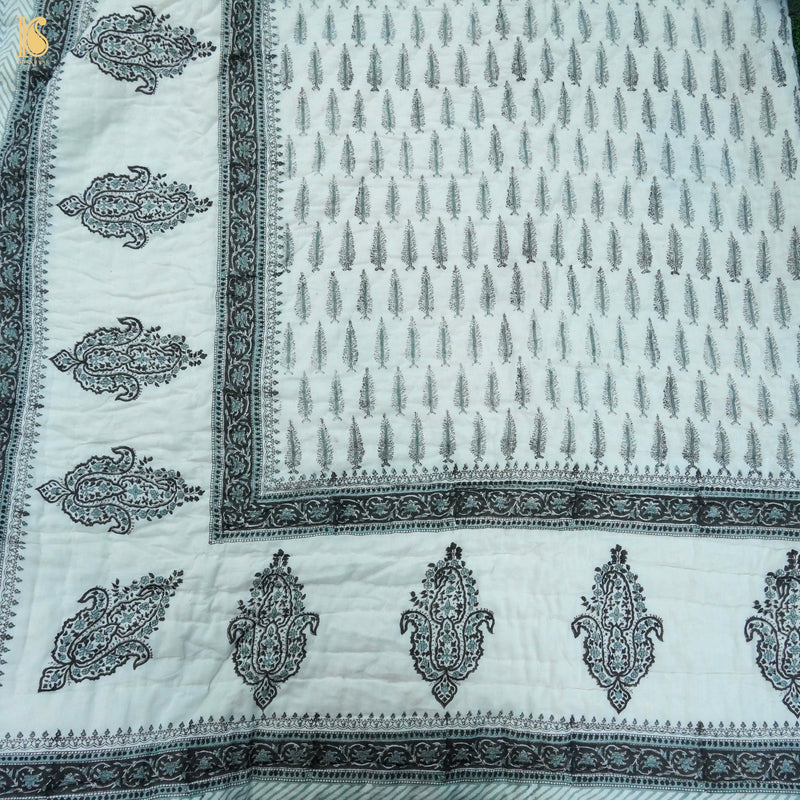 Handloom Banarasi Georgette Bottle Green Dupatta - Khinkhwab